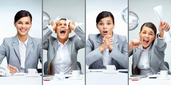 femeie-la-job-in-mai-multe-ipostaze-emotionale